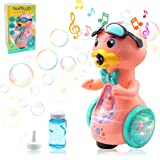 SUYPAS - Bubble Machine - Bubble Machine for Kids - Musical Toys for Toddlers 1-3 with Yellow Duck Bubbles Machine for Toddle