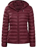 Rokka&Rolla Women's Ultra Lightweight Hooded Packable Puffer Down Jacket