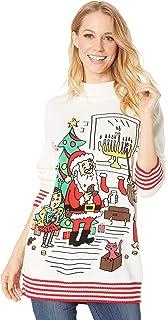 Amazoncom Whoopi Unisex Happy New Year Sweater Multi Large Clothing