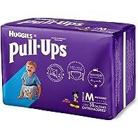Huggies Pull-Ups Calzoncitos Entrenadores para Niño, Talla Mediana, 1 Paquete con 30 Calzoncitos Desechales, Ideal para niños de entre 12 a 15 kg