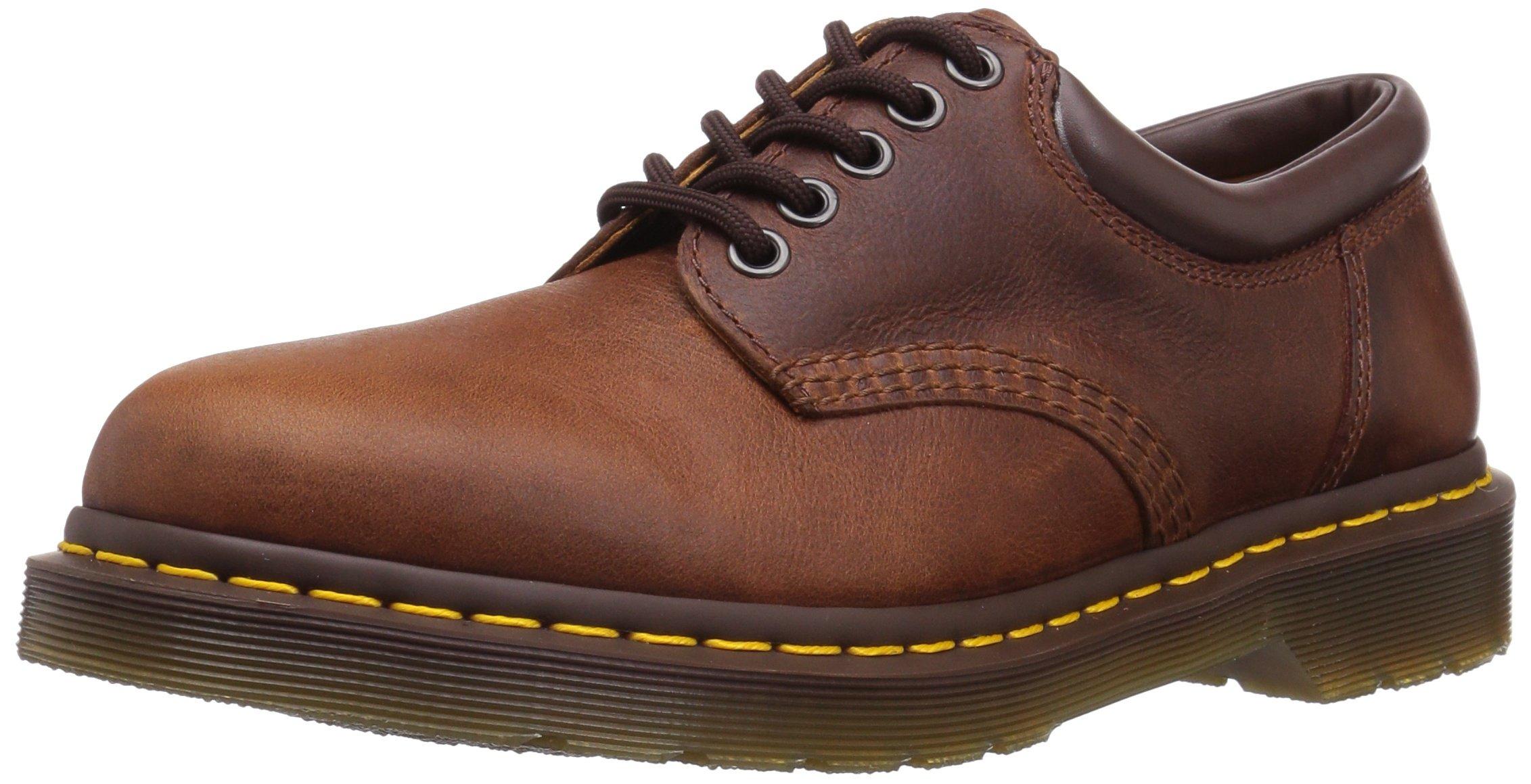 Dr. Martens 8053 5 Eye Padded Collar Shoe, Tan Harvest, 11 UK/12 US Men