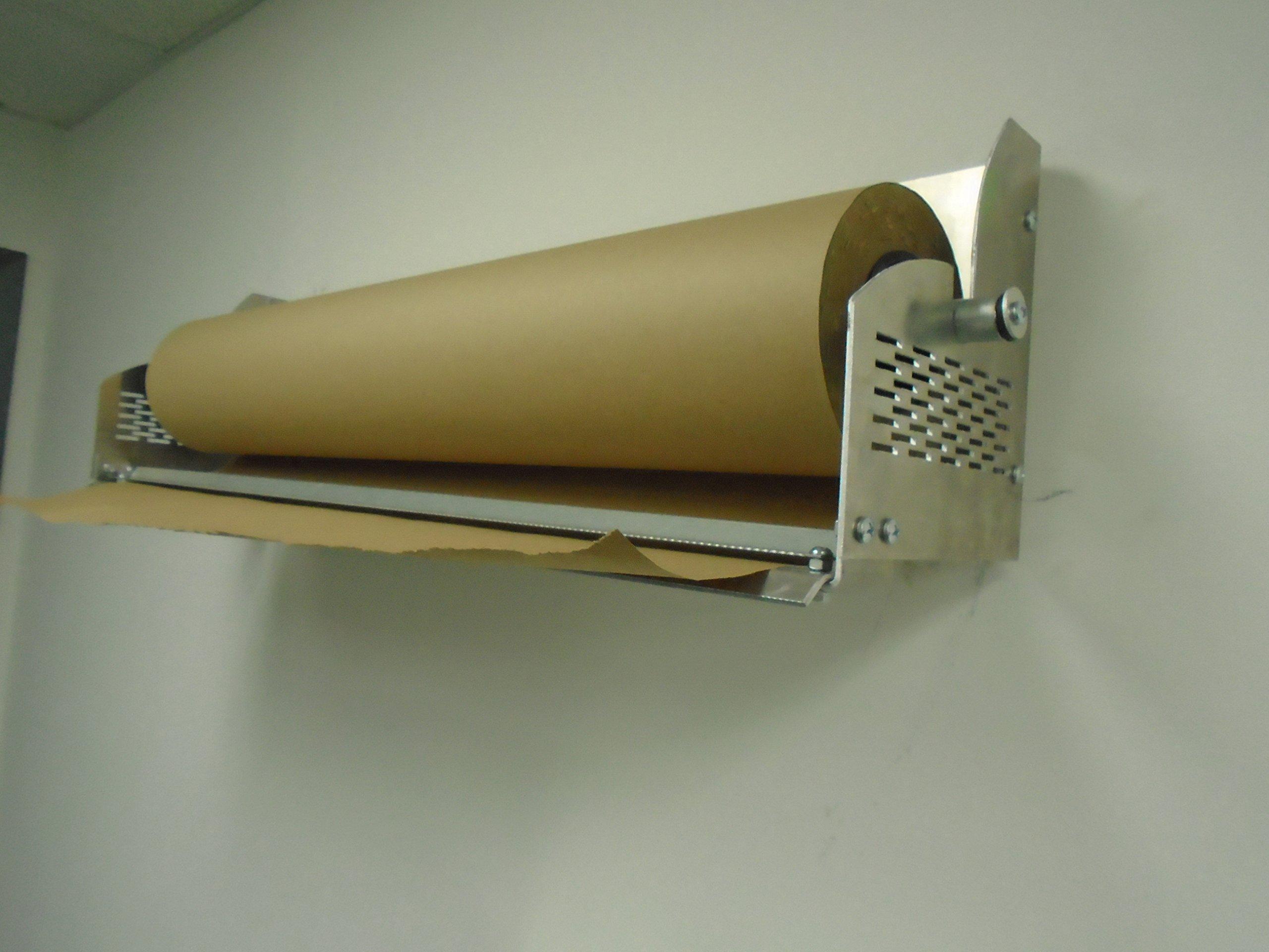Paper Cutter Roll Dispenser 24 inches wall mount Kraft paper Duralov by Duralov