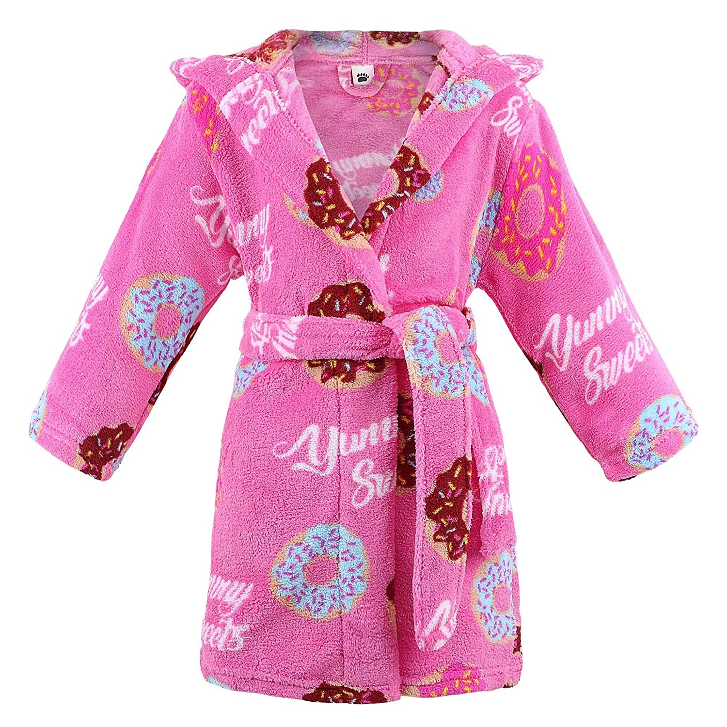 Arctic Paw Kids Robes Boys Girls Children Animal Theme Bathrobes Pool Cover up