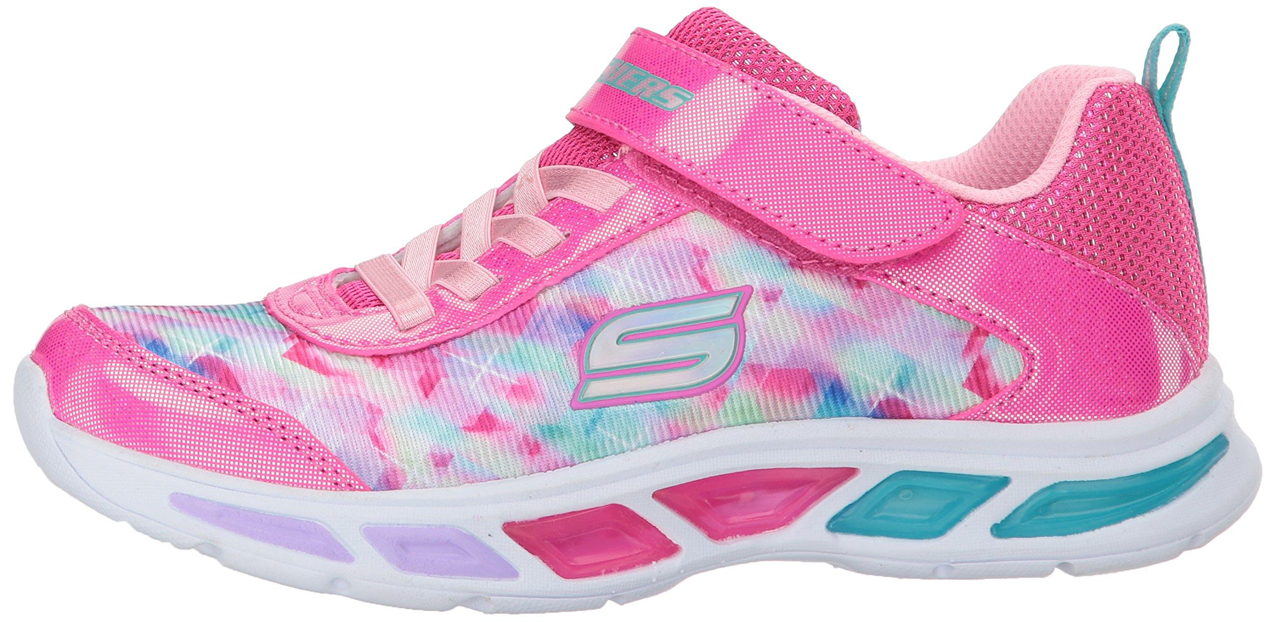 Skechers Kids Girls' Litebeams-Dance N'Glow Sneaker,neon Pink/Multi,1 Medium US Little Kid by Skechers (Image #5)