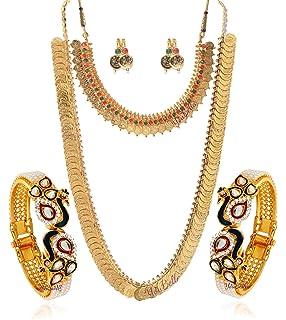 3fadd24e97b3e Buy Sukkhi Jewellery Sets for Women (Golden) (290CB1650) Online at ...