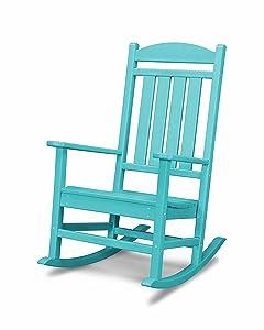 POLYWOOD R100AR Presidential Rocking Chair, Aruba