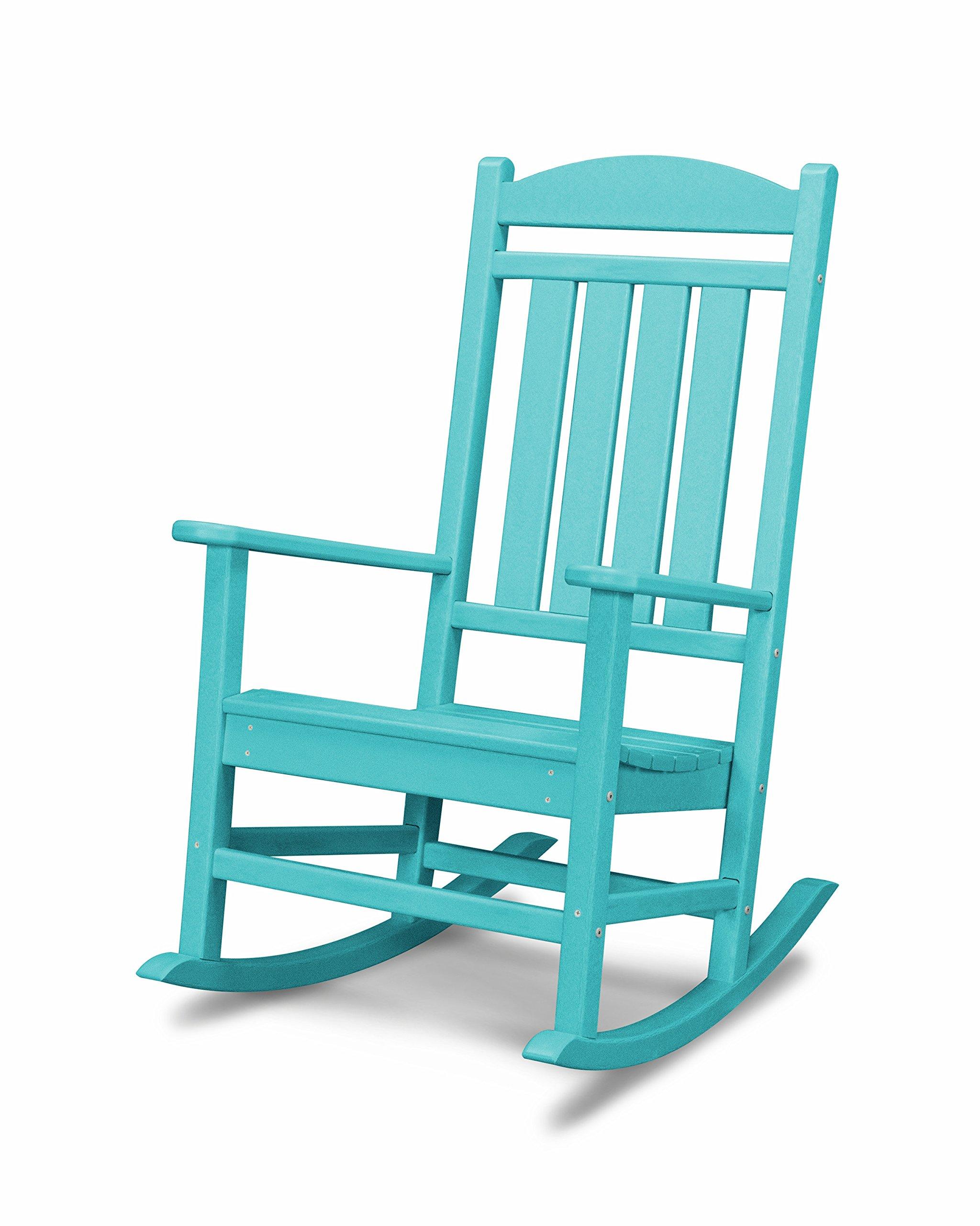 POLYWOOD R100AR Presidential Outdoor Rocking Chair, Aruba
