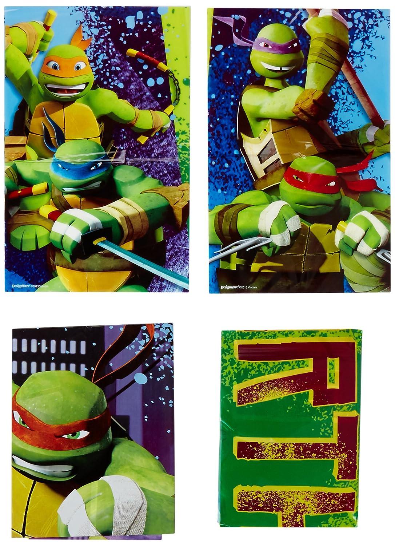 Amscan Kit Decoración de Pared Tortugas Ninja (5 pz)