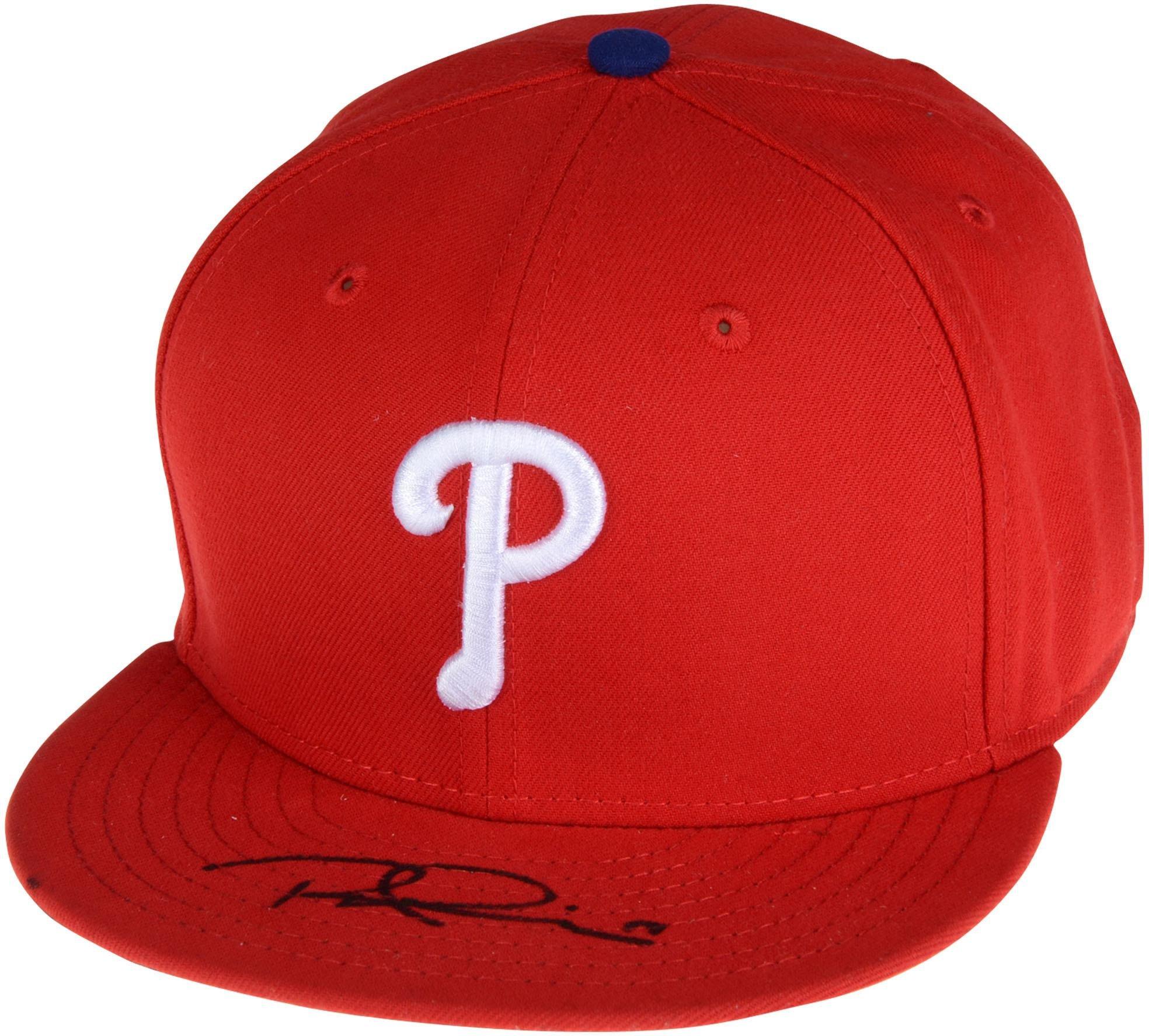 Rhys Hoskins Philadelphia Phillies Autographed New Era Cap Fanatics Authentic Certified Autographed Hats