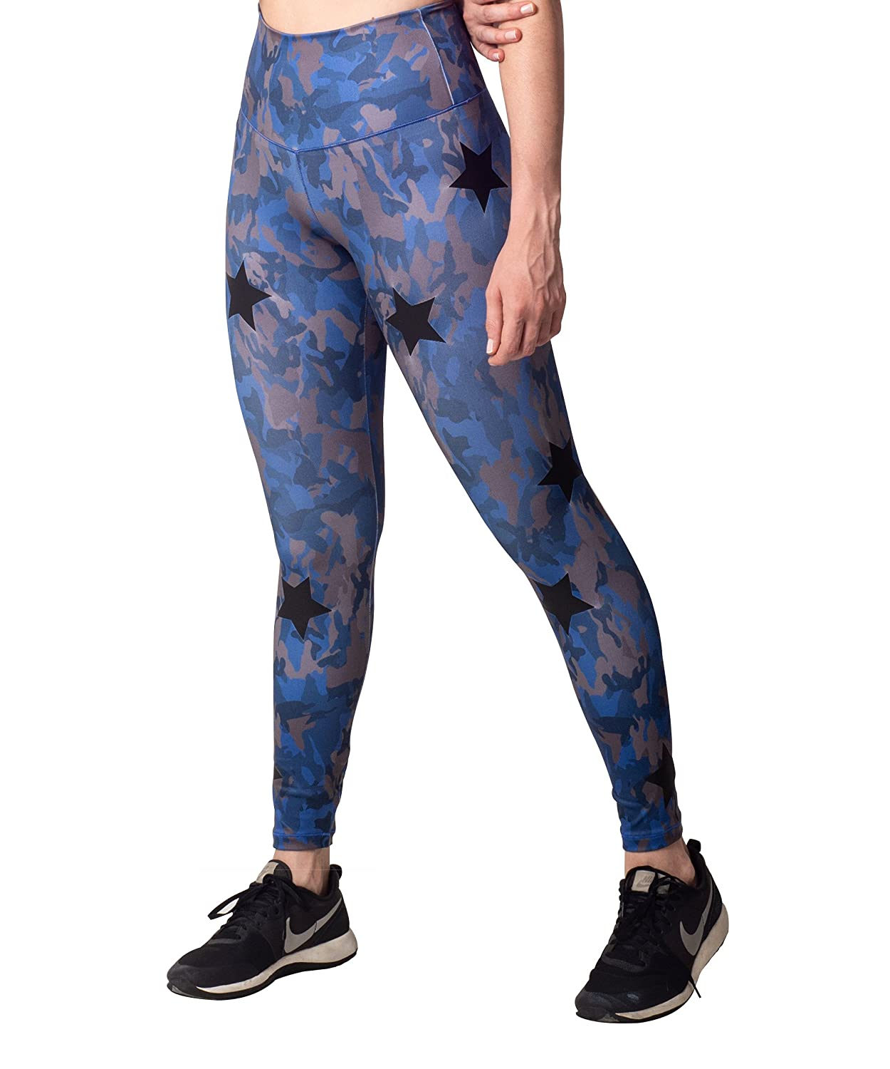 Activefit Mix Stars Camouflage Stretch High Waisted Workout Yoga Pants Leggings for Women