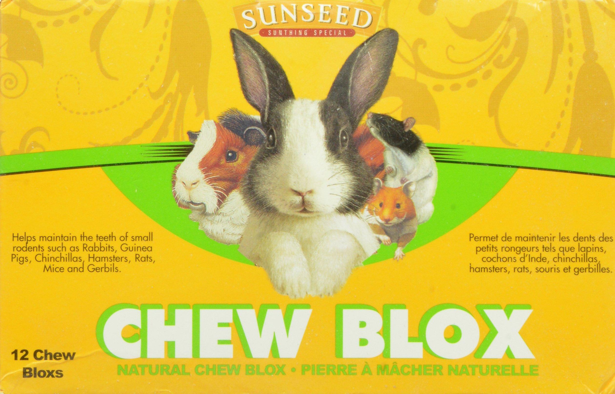 Sun Seed Company Sss39400 12-Pack Chinchilla Wood Chew Blox Display by Sun Seed