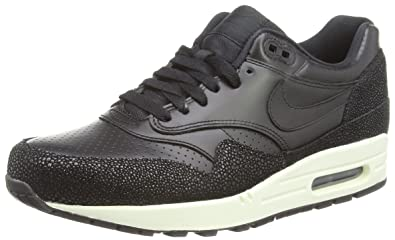 fcc3c355c274 Nike Air Max 1 Leather PA Mens Running Shoes 705007-001 Black Black-Black