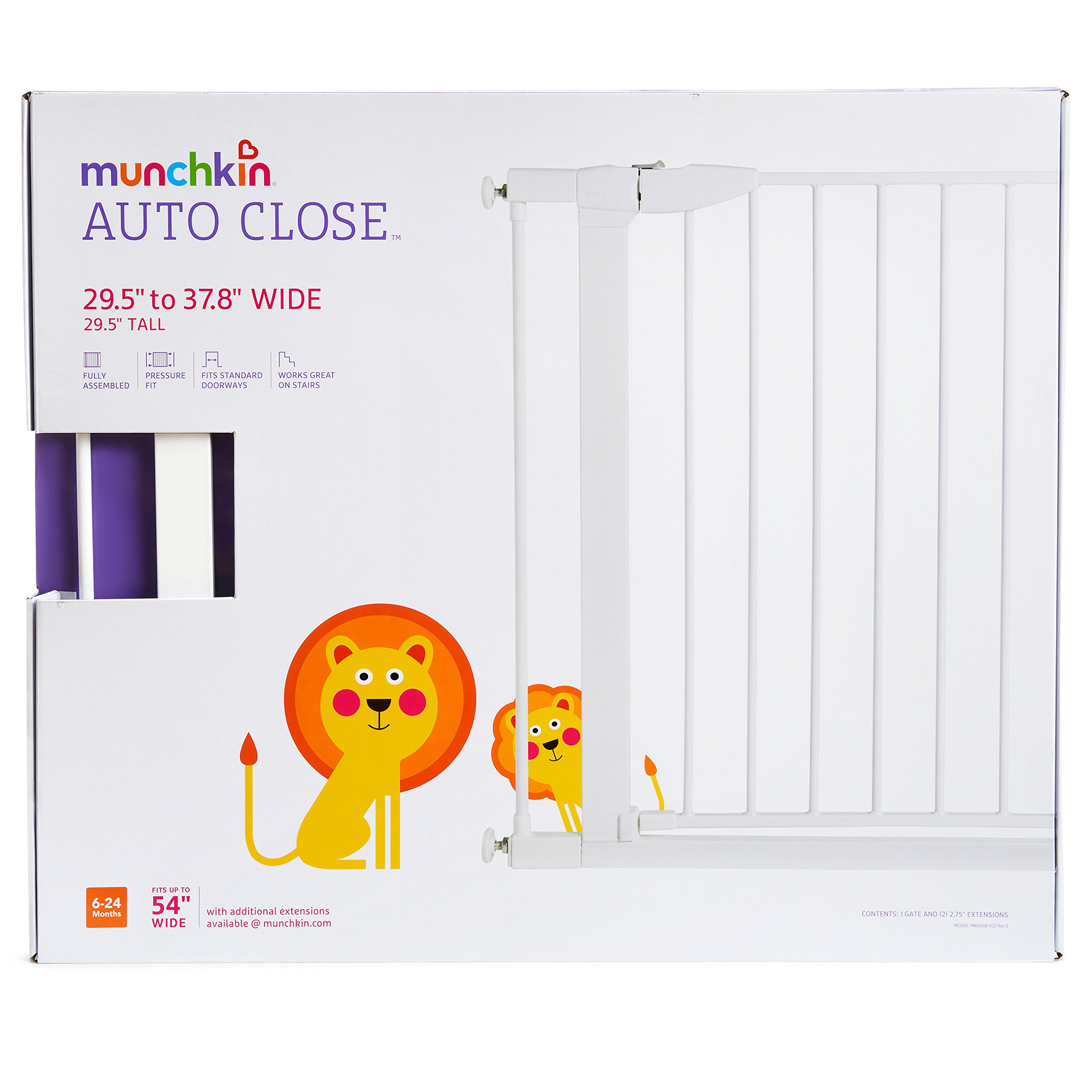 Munchkin Auto Close Metal Baby Gate White Model Mk0006