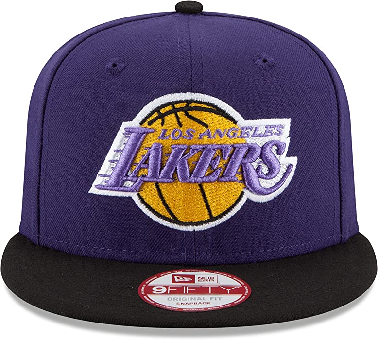check out ef794 dabe5 Los Angeles Lakers 9Fifty Men s Snapback Hat Cap Violet Black 11204240. NBA  Los Angeles Lakers Hardwood Classics 2Tone Basic ...