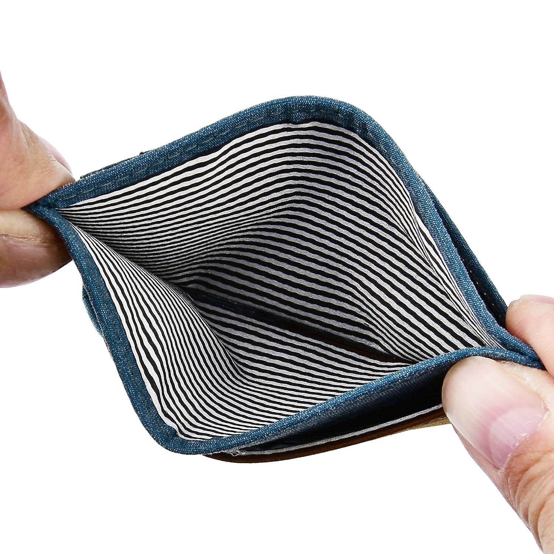 Slim Wallet Front Pocket Minimalist Genuine Leather RFID Blocking Card Holder
