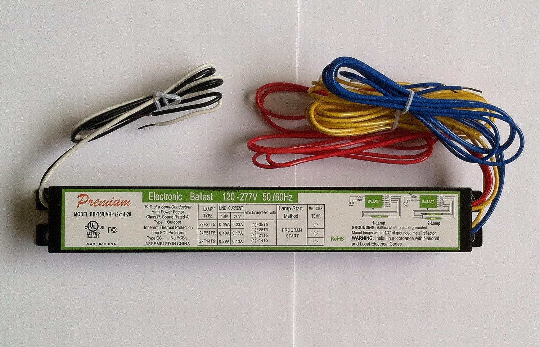 T5 Universal Electronic Ballast for F14T5, F21T5, F28T5, F35T5 - 120 ...
