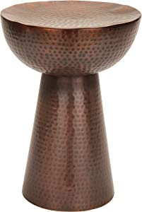 Deco 79 Metal Bronze Stool, 20 by 14-Inch