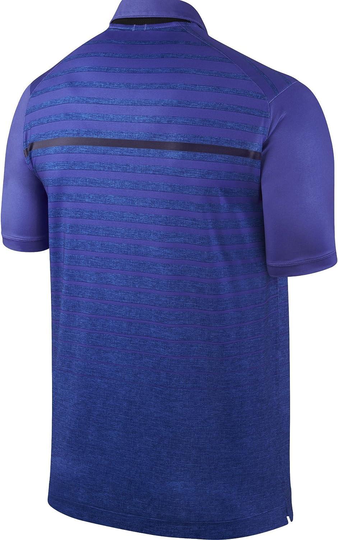 Nike Mens Dri-FIT Majors Horizon Polo Large Persian Violet//Wolf Grey