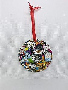 Tokidoki Ornament - Handmade from Recycled Comic Books