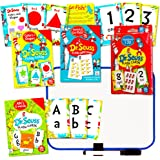 Dr. Seuss Flash Cards Super Set Toddler Kids -- 144 Flash Cards (4 Packs) with Dry Erase Board (Dr. Seuss ABC Flash Cards, Numbers Flash Cards, Colors and Shapes, Match and Go Fish!)
