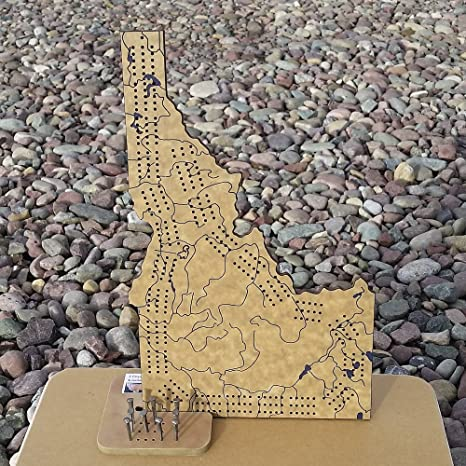 amazon com idaho 3 track cribbage board game set with engraved