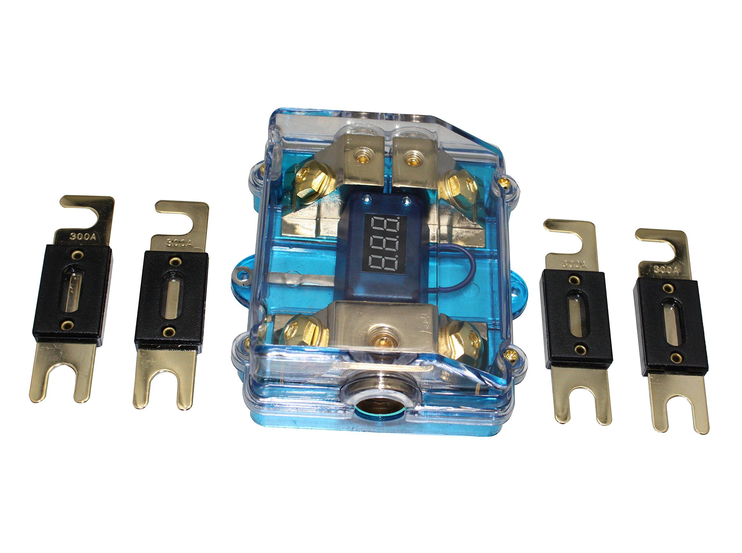 500A ANL Dual Digital Platinum ANL Distribution Block 0-4 Ga Fuse Holder
