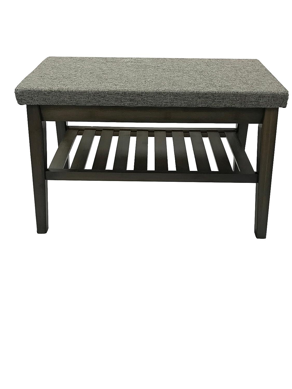 Wide Shoe Rack Bench Ottoman (Grey) ITY International