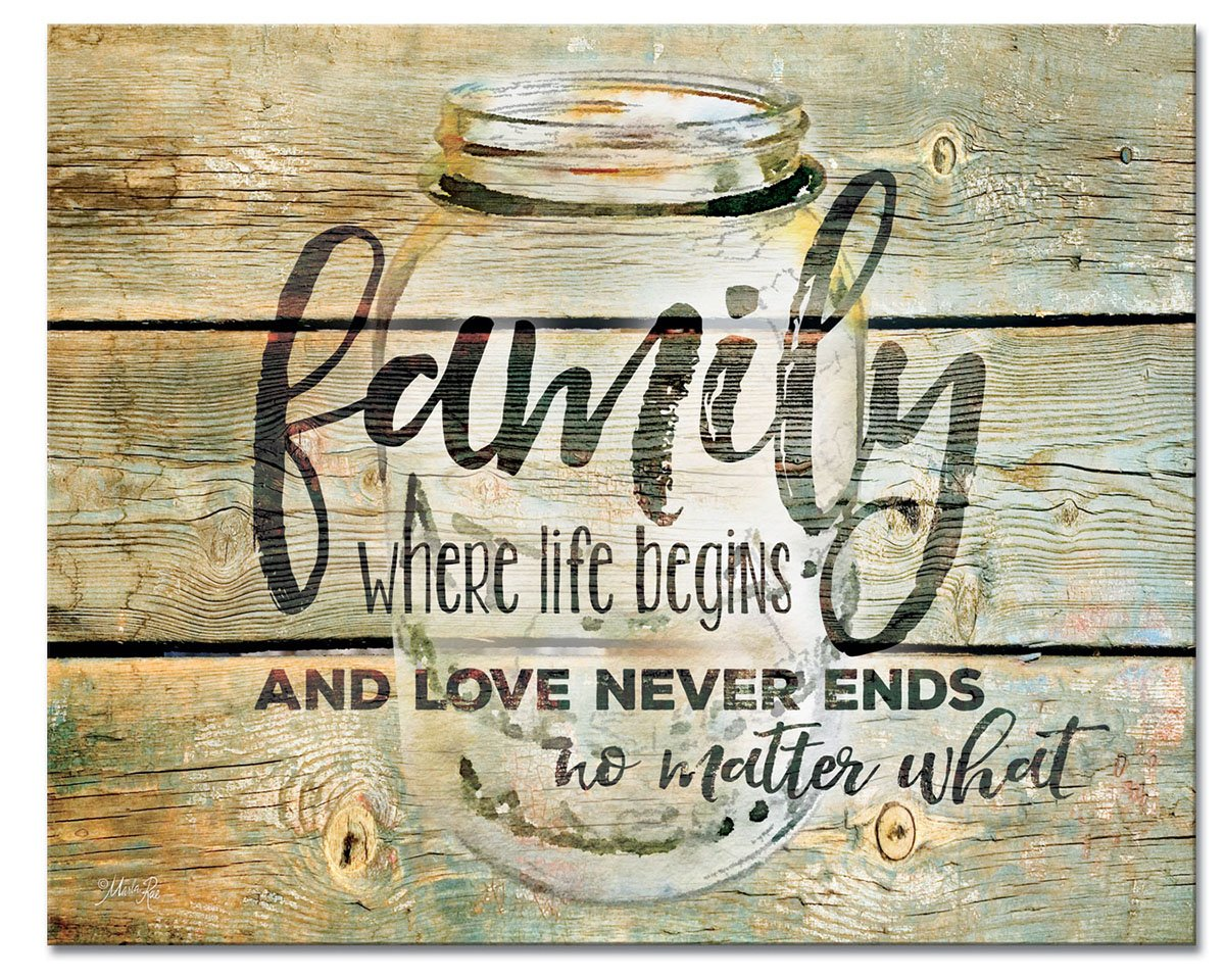 CounterArt 'Family Time' Glass Cutting Board, 15 x 12''