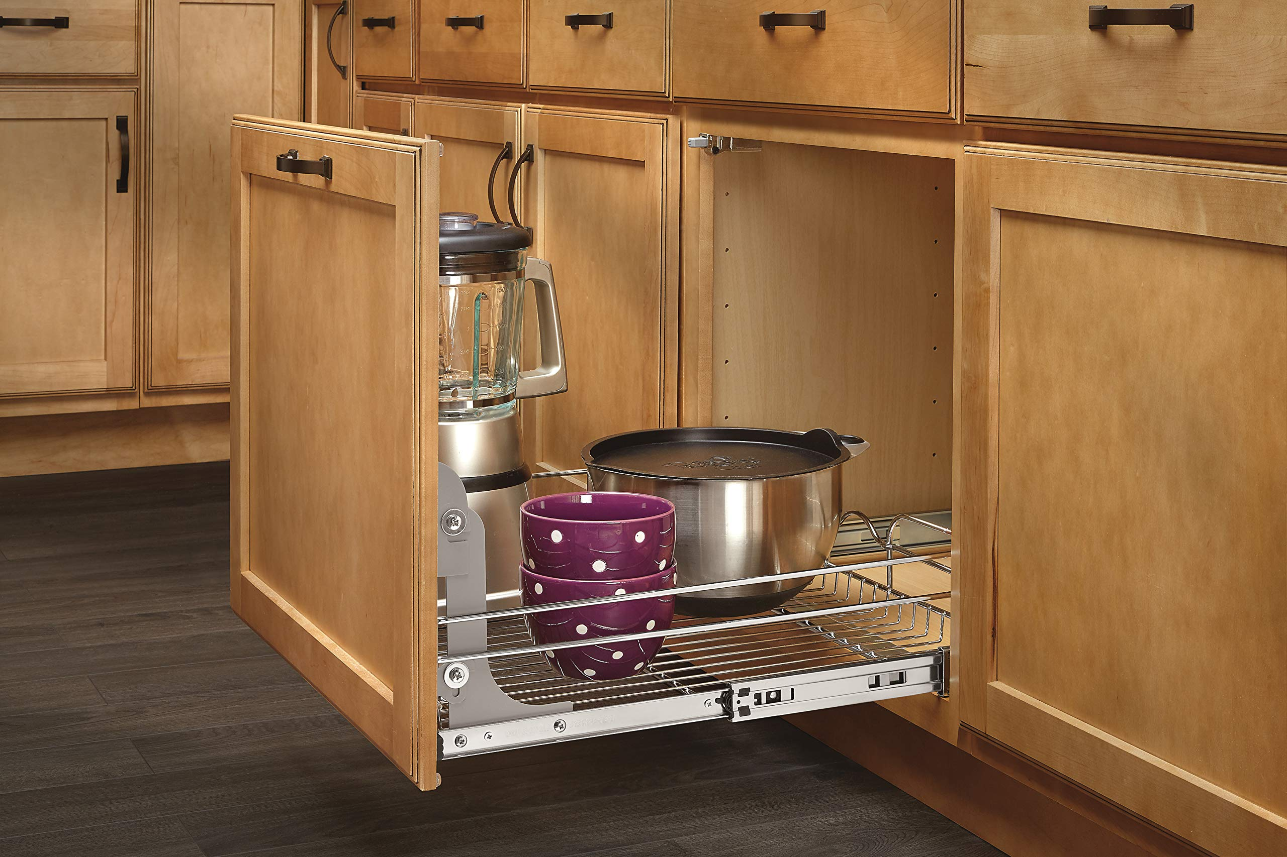 Rev-A-Shelf - 5WB1-2122-CR - 21 in. W x 22 in. D Base Cabinet Pull-Out Chrome Wire Basket by Rev-A-Shelf (Image #2)