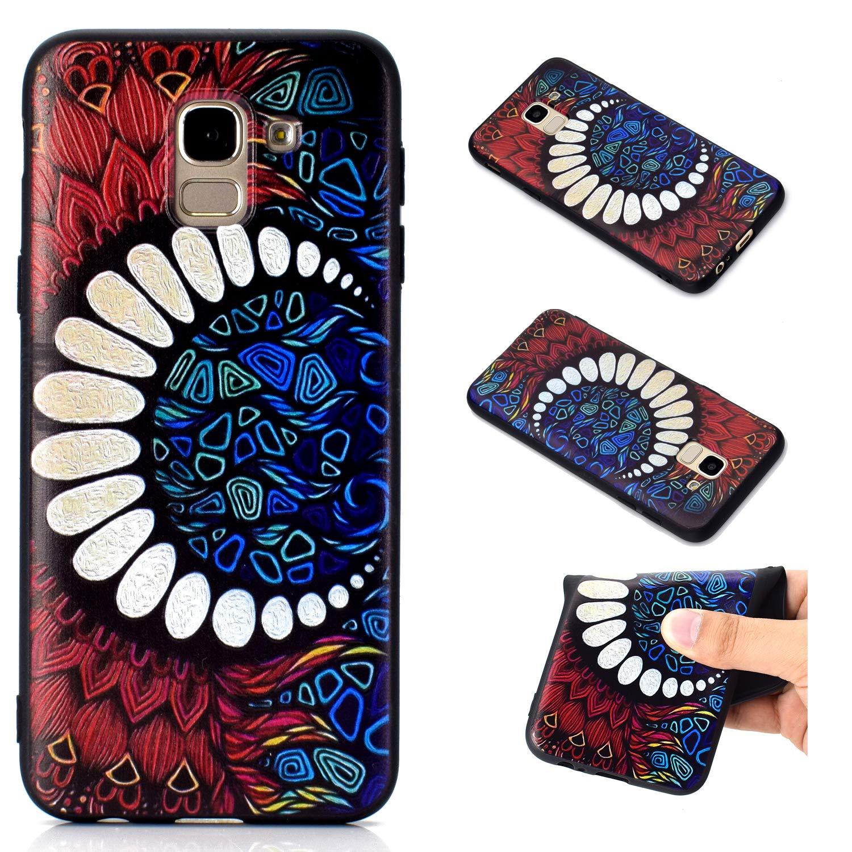 BONROY Coque pour Samsung Galaxy A6 Plus 2018, Shock-Absorption et Anti-Rayures-(Petit Diable-KT)