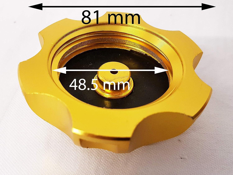 Orange importazioni Ltd FC010/oro anodizzato carburante benzina tappo e tubo di sfiato per 110/cc 125/cc 140/CC Dirt//Pit Bike