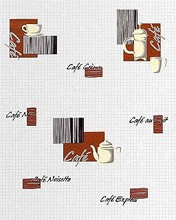 Rasch Motiv Kaffee Cappuccino Mocca Vinyl Tapete Küche 855104 ...