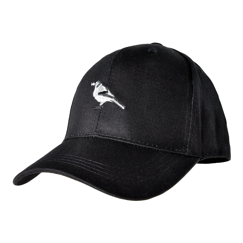 Amazon.com  ZLYC Women Cute Embroidered Cotton Baseball Cap Adjustable  Snapback Hat (Bird Black)  Clothing 280cc7814a1