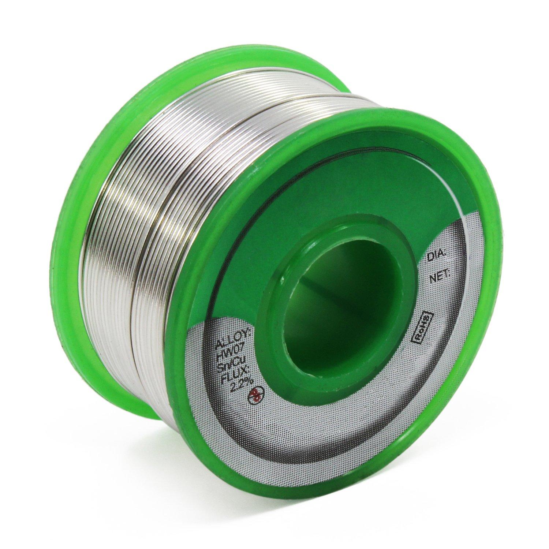 0.8mm 100g Aussel Fil de soudure sans plomb Sn99.3 Cu0.7 Fil de soudage au noyau de r/ésine pour soudure /électrique 100g