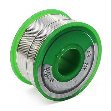 Aussel Cable de soldadura sin plomo Sn99.3 Cu0.7 Alambre de soldadura de núcleo de colofonia para soldadura eléctrica 100g (0.8mm 100g): Amazon.es: ...