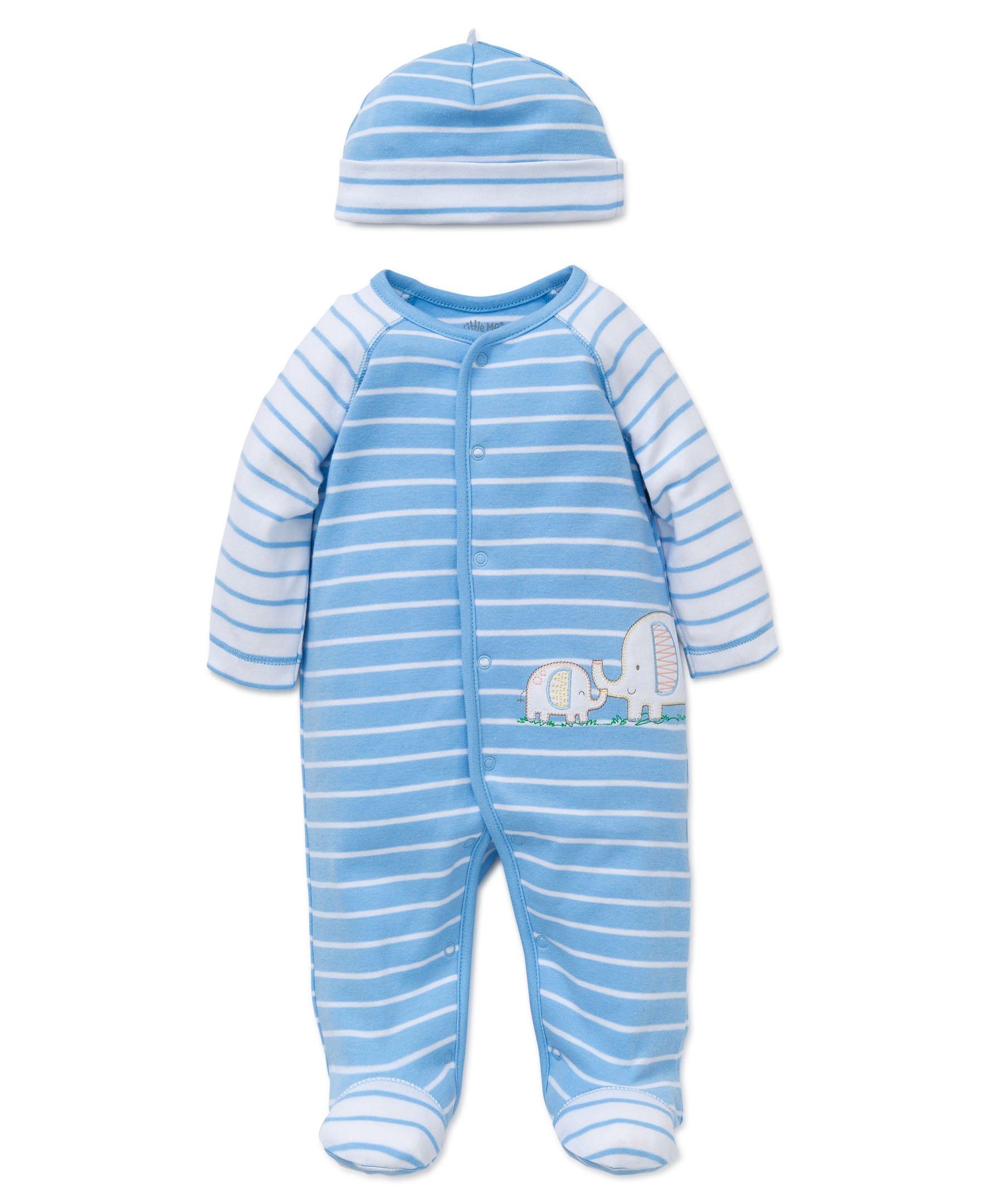 Little Me Baby Boys' Footie and Hat, Elephant, Preemie