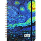 """2021-2022 Planner - July 2021 - June 2022 Monthly Weekly Planner with Tabs, 6.4""""x 8.5"""", Starry Cover, Flexible Hardcover, Str"""