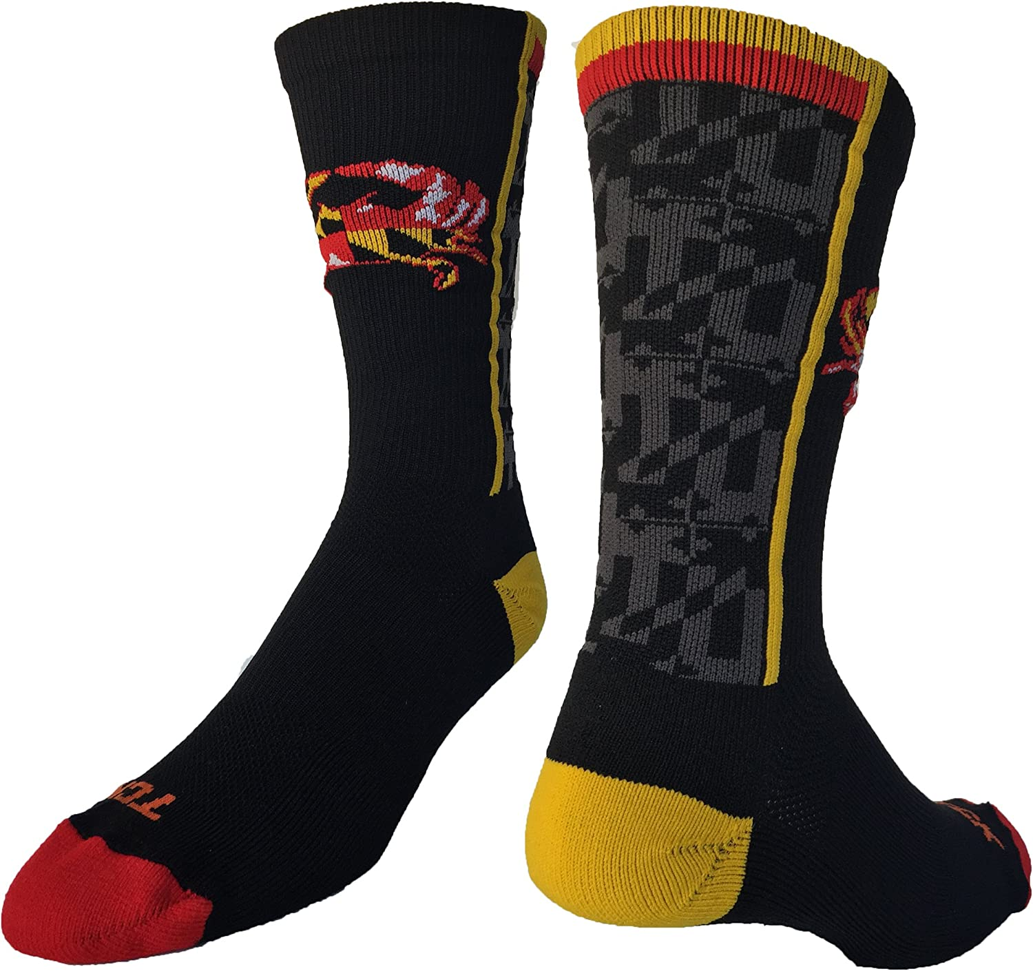 TCK Maryland Flag with Crab Crew Socks