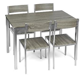 Küchentisch In SilberMdf Küche Stühlen Aus Esstisch 4 Alugestell Esszimmer Set 5er Mit Ideen 5 Teilige Für Ts Holzoptik Essgruppe EH29WbDIYe