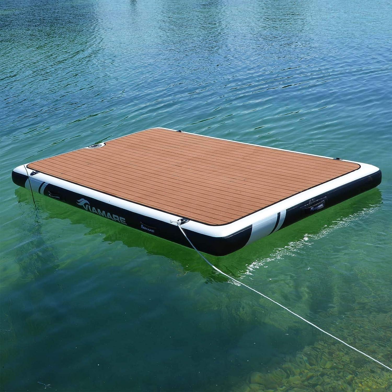 AQUALUST ISLAND Badeinsel Sonneninsel Badeplattform Bootplattform 250x160x15cm