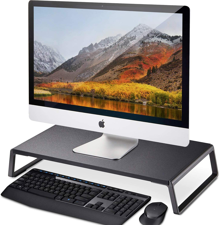 Soporte para monitor AboveTEK con pies de metal para ordenador portátil, iMac, impresora, televisor y pantalla LCD: Amazon.es: Electrónica
