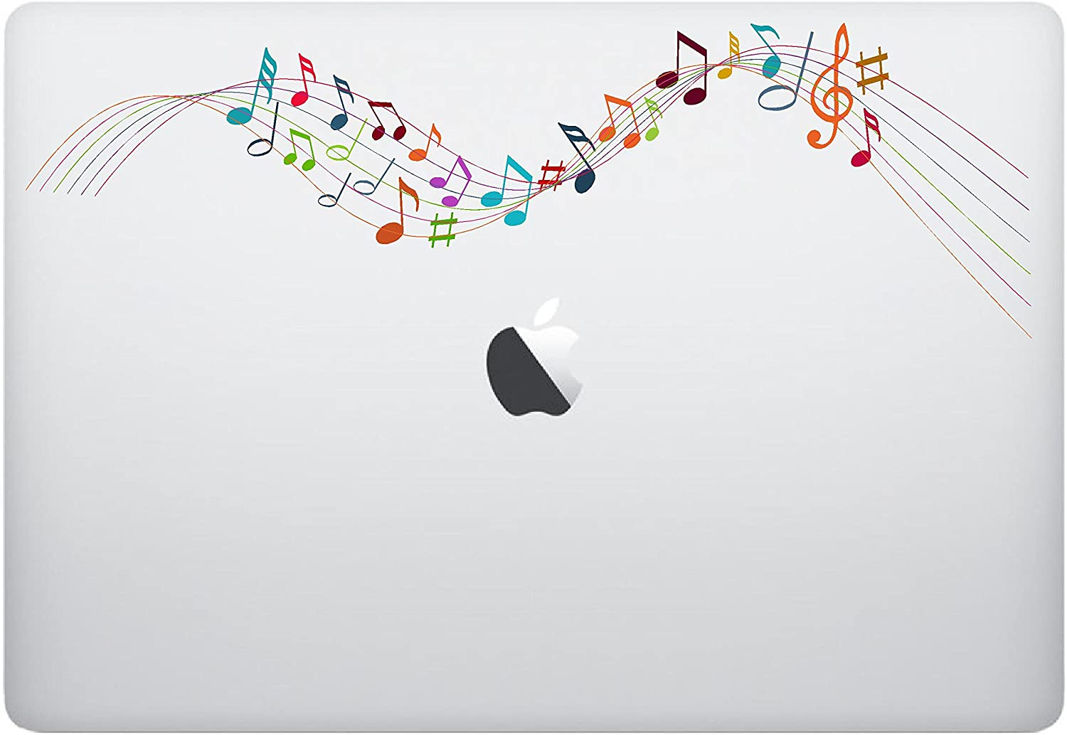 Epic Designs Laptop Sticker Decal - Colorful Music Notes - Cool Creative Skins Stickers