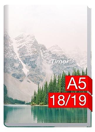 chäff de temporizador Classic A5 Calendario 2018/2019 [Mountain Spirit] 18 meses de