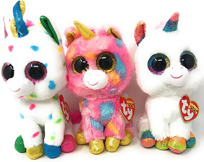 "Harmonie Unicorn Ty Beanie Boos Plush stuffed animal figure 6/"" new with tags"