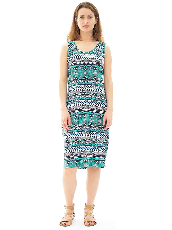 1bba2fc716ab Avanti Bottega Women's Casual Sleeveless Bodycon Knee Length Midi Dress at Amazon  Women's Clothing store: