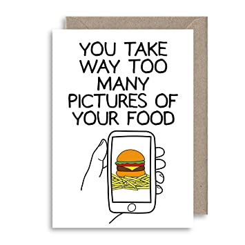 Funny Food Pictures Card