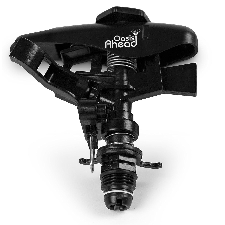 Oasis Ahead - Cabezal de aspersor Q-250 para césped, de plástico, con rosca de 1,27 cm, riego de hasta 360 grados