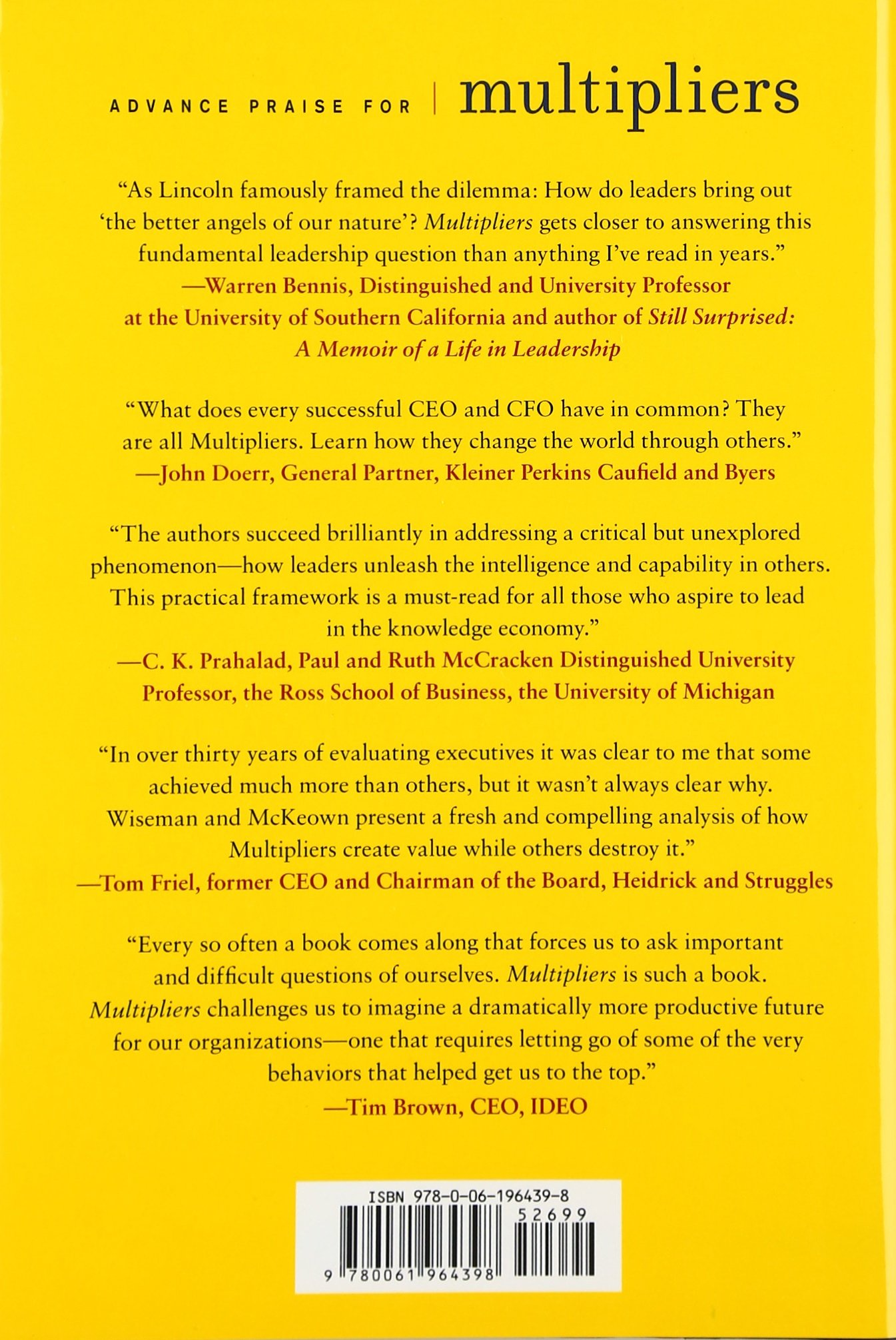 Multipliers: How The Best Leaders Make Everyone Smarter: Liz Wiseman, Greg  Mckeown: 9780061964398: Amazon.com: Books