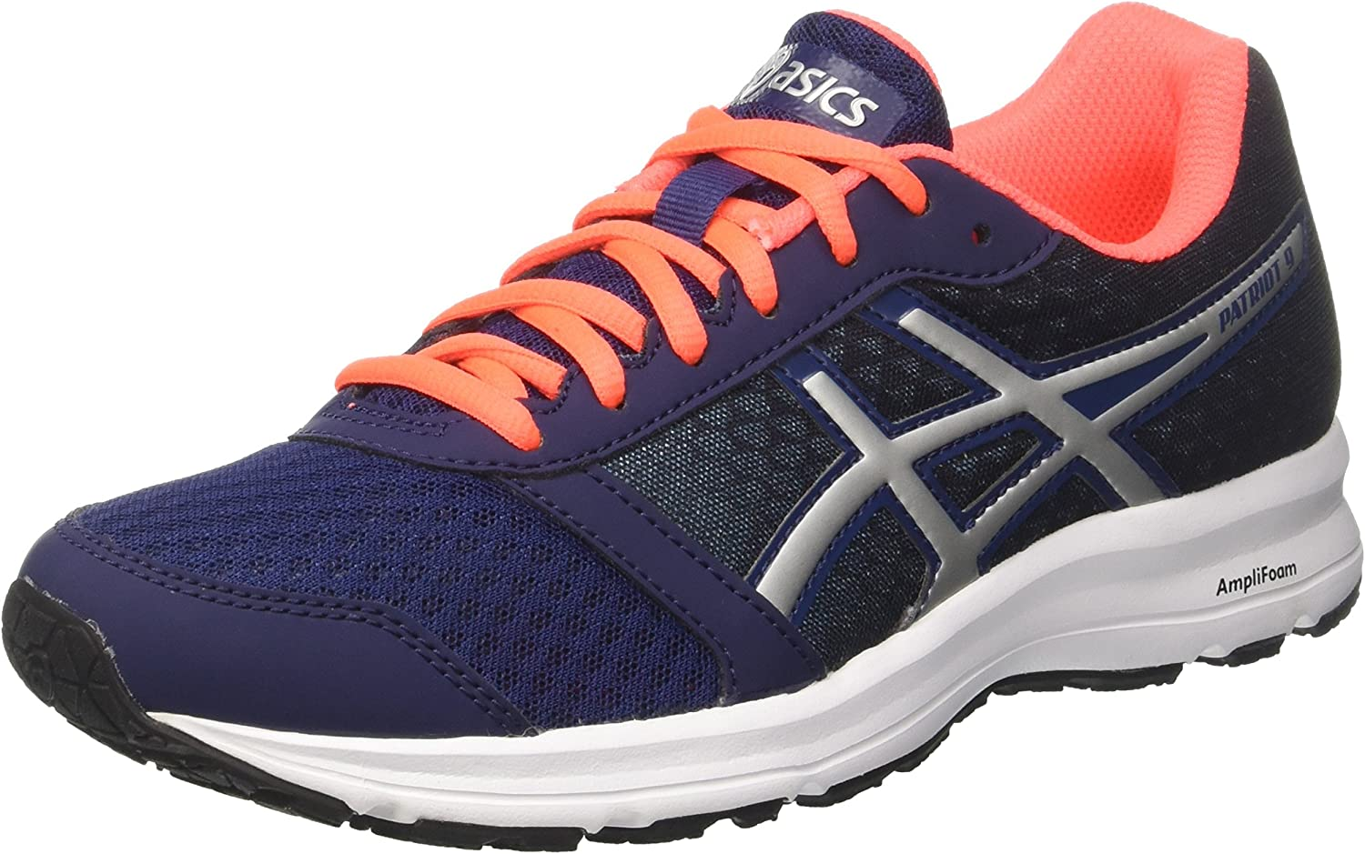 Asics Patriot 9, Zapatillas de Entrenamiento para Hombre, Multicolor (Indigo Blue/Silver/Flash Coral 4993), 39.5 EU: Amazon.es: Zapatos y complementos