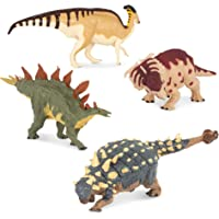 Terra by Battat – Toy Dinosaur Set with Stegosaurus (4pc) – Collectible Dinosaurs and Toys for Kids Age 3+
